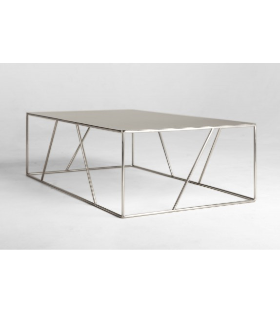 Coffee table ARCHITECTURA stainless steel